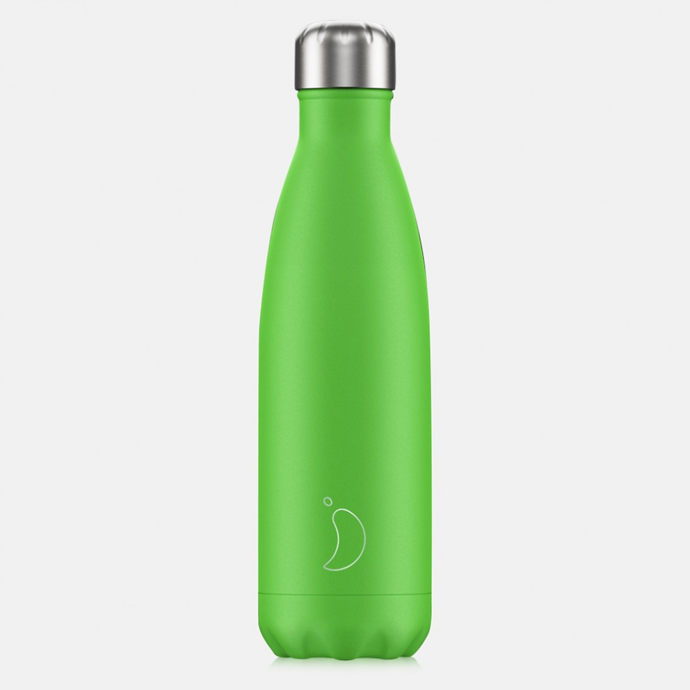 Chilly's Bottles Neon Green Μπουκάλι Θερμός 500ml
