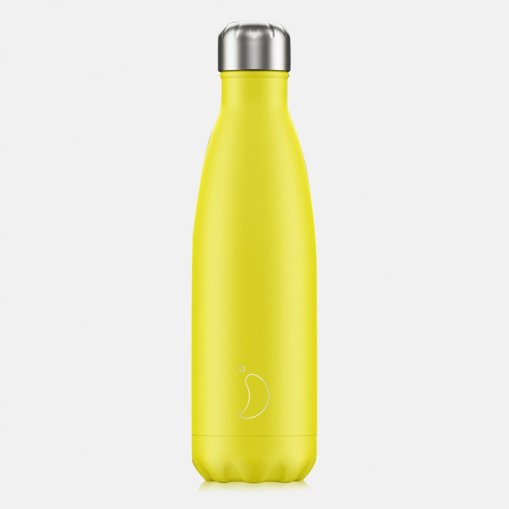 Chilly's Bottles Neon Yellow Μπουκάλι Θερμός 500ml