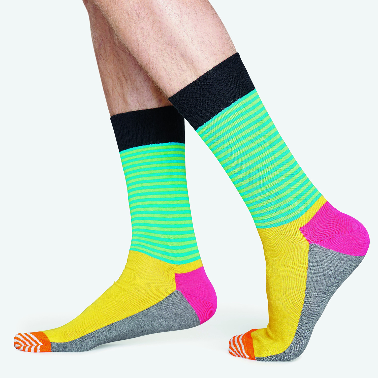 Happy Socks Half Stripe Sock