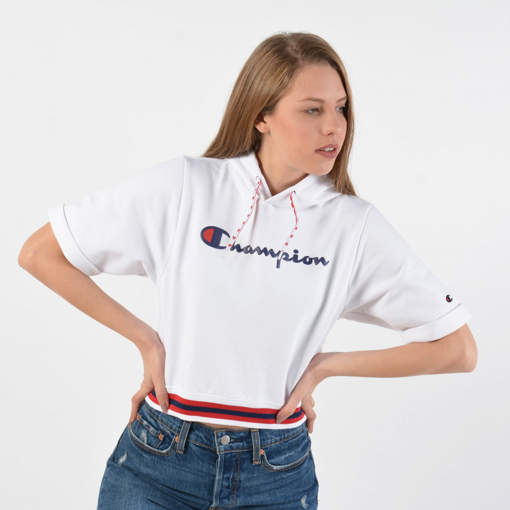 Champion Rochester Women's Short SLeeve Hooded Sweatshirt - Γυναικείο Hoodie