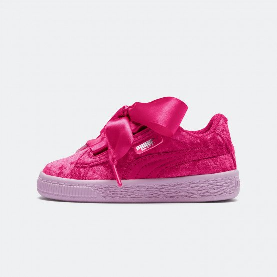 Puma Basket Heart Velour Infants Girls' Trainers