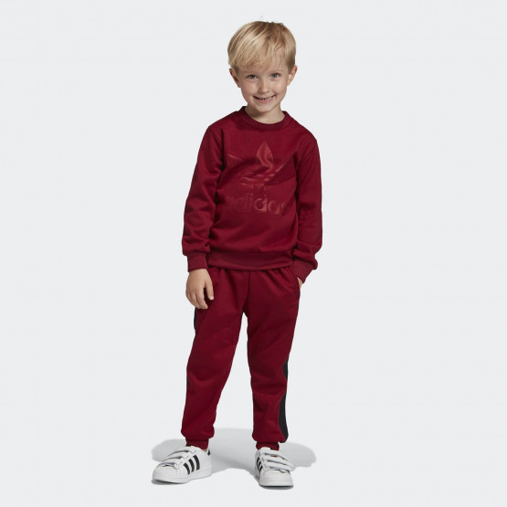 adidas Originals Kids' Debossed Trefoil Crew Set