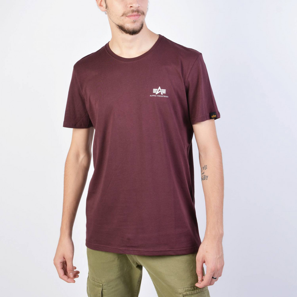 Alpha Industries Basic T Small Logo T-Shirt//Unisexe Red