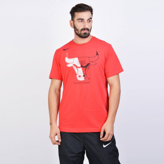 Nike NBA Chicago Bulls Dri-FIT T-Shirt - Ανδρική Μπλούζα