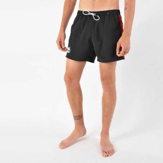 Kappa Men's Authentic Baten Red Black White Swim Shorts - Ανδρικό Μαγιό