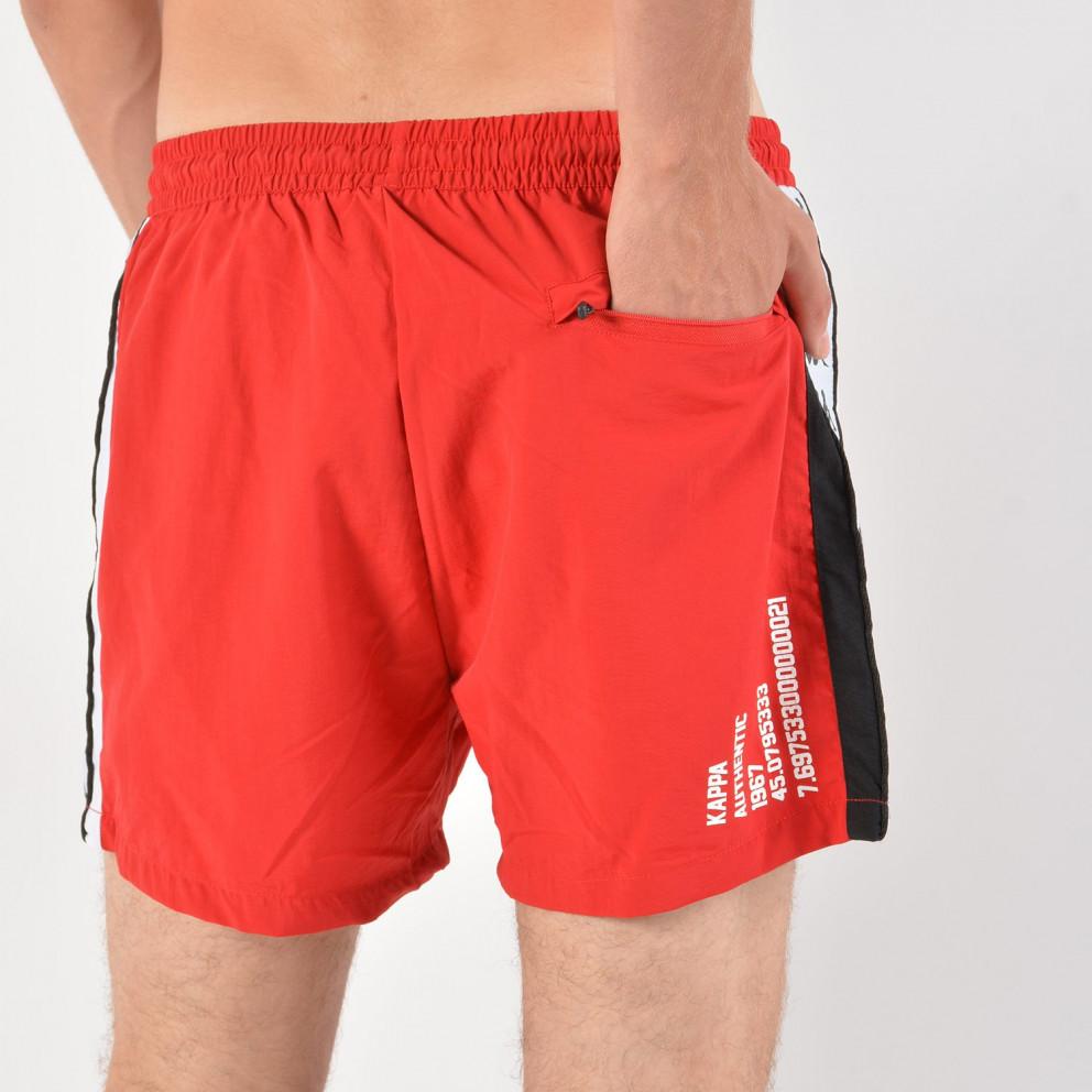 Kappa Men'S Authentic Baten Red Black White Swim Shorts