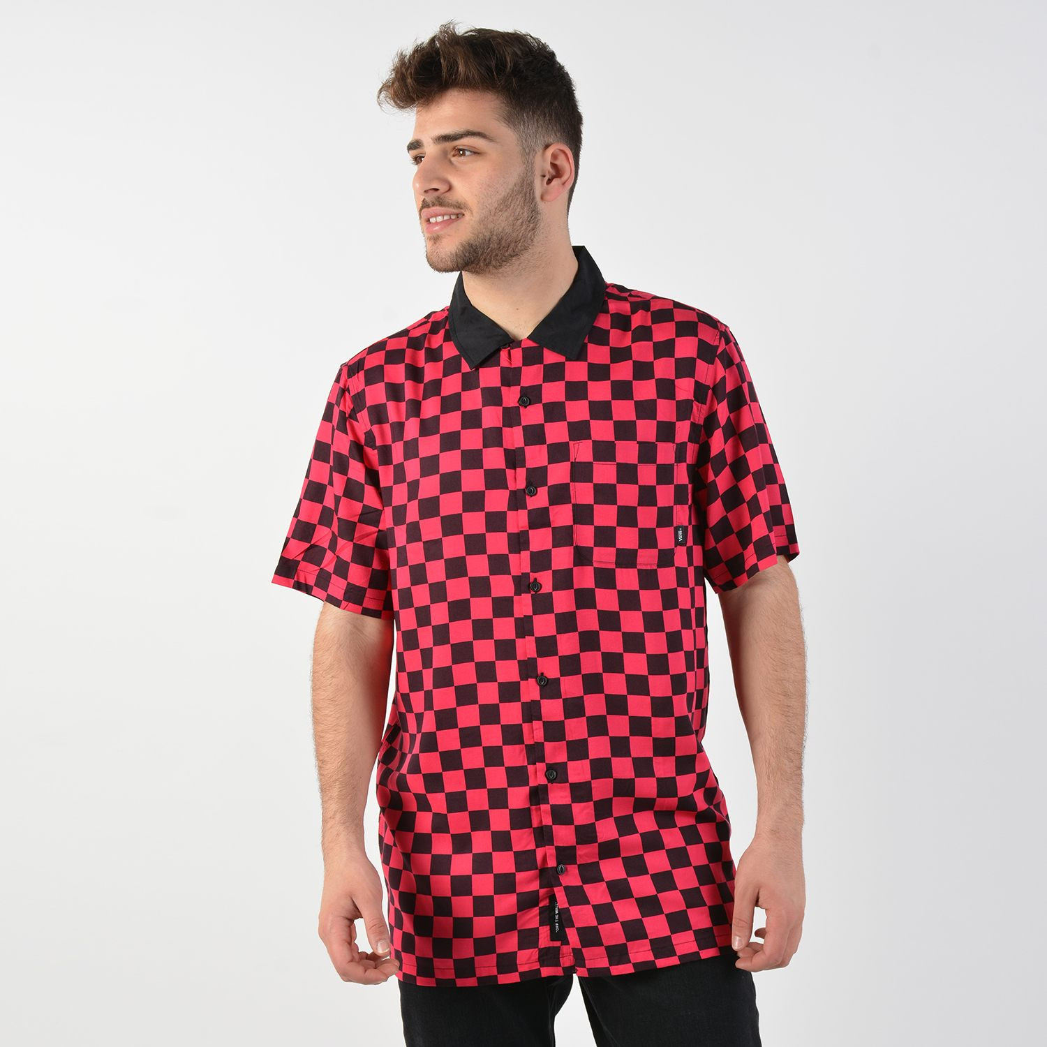 Vans Men's Checkeboard Short Sleeve Buttondown Shirt (9000026965_38215)