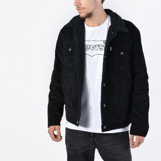 Levis TYPE 3 SHERPA TRUCKER BLACK CO