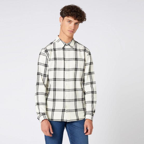 Wrangler LS 1 PKT SHIRT OFF WHITE