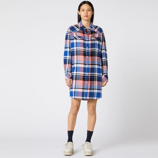 Wrangler OVERSHIRT DRESS COBALT BLUE