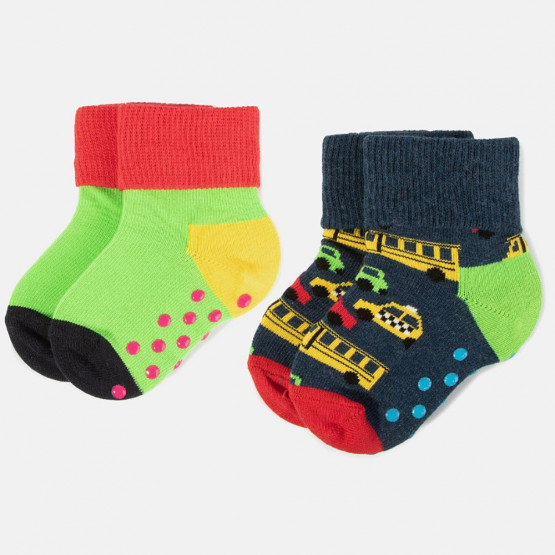 Happy Socks 2-Pack Cars Anti-Slip Socks