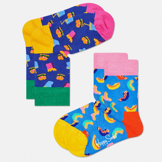 Happy Socks 2-Pack Hamburger Socks