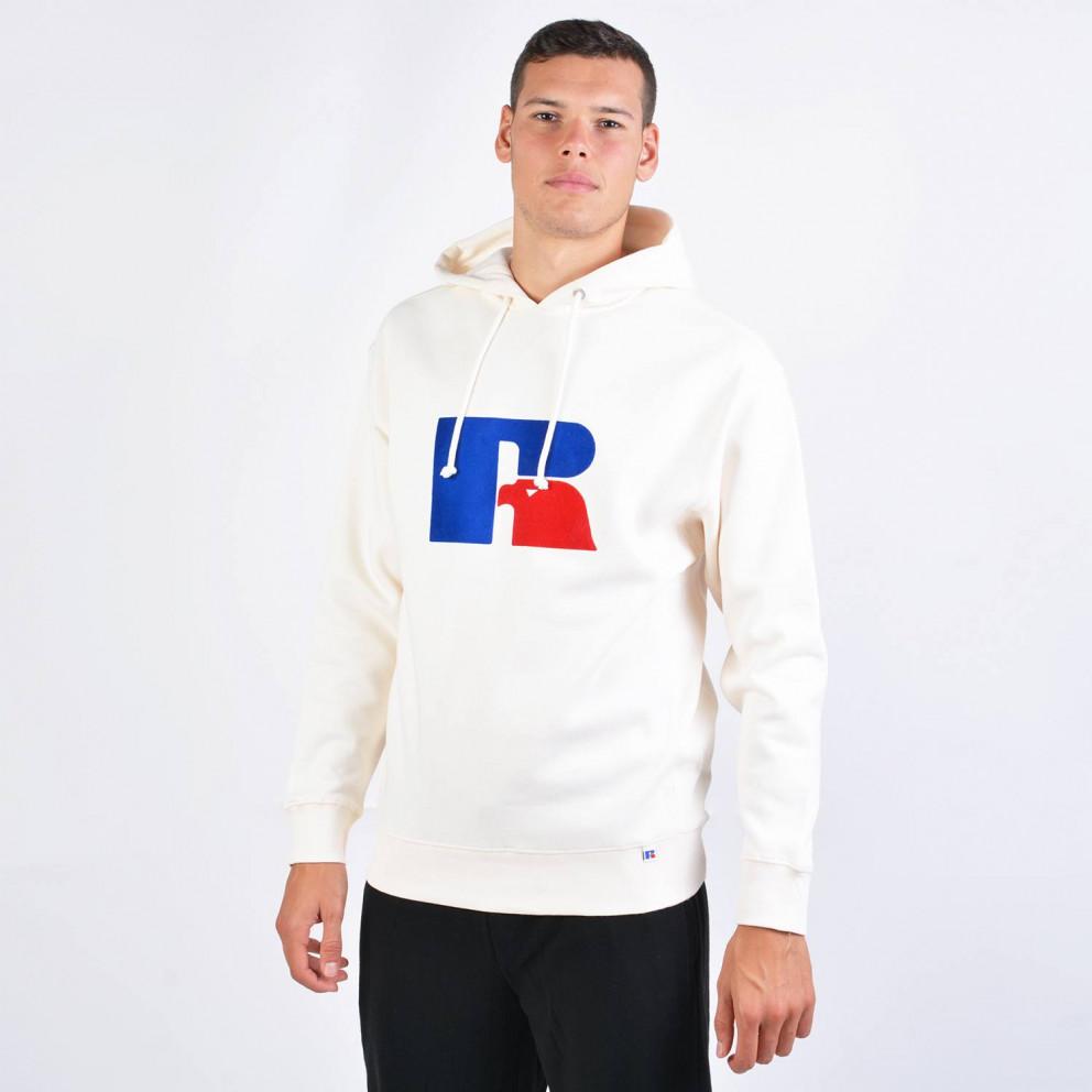 Russell Athletic Flock Logo Hoodie