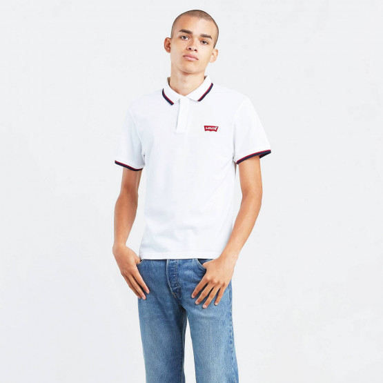 Levis SS MODERN HM POLO HM PATCH WHITE W/ TIP