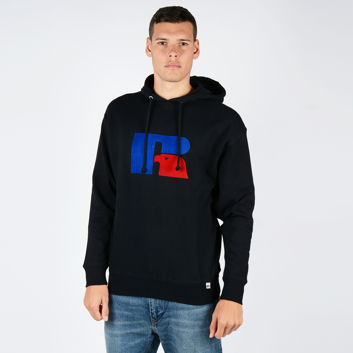 Russell MIKE - LARGE FLOCK LOGO HOODY