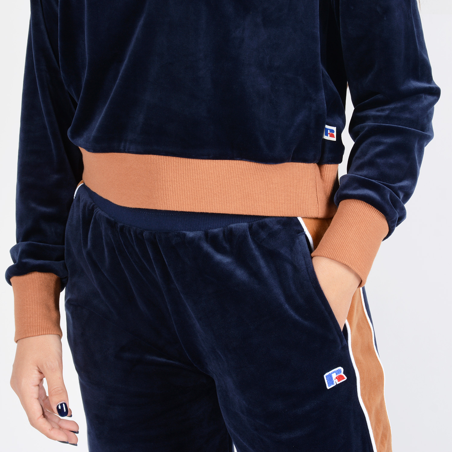 Russell CAROLINE CROP INSERTED POLO