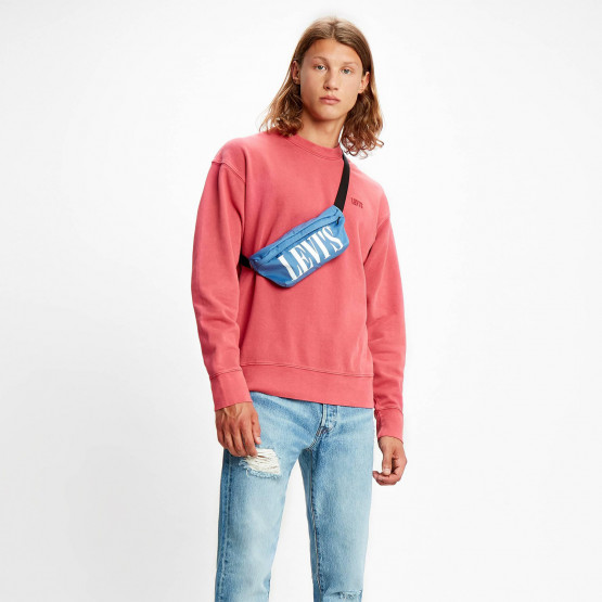 Levi's Men's Authentic Logo Crewneck Long-Sleeve Tee