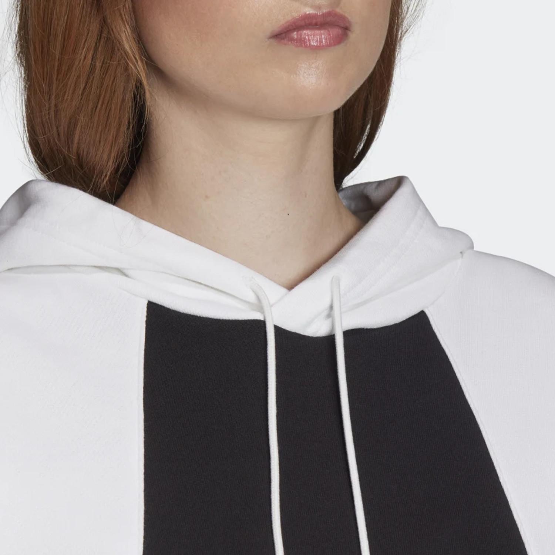 Details about Adidas Originals Sweater Ladies Lrg Logo Hoodie FS1306 White