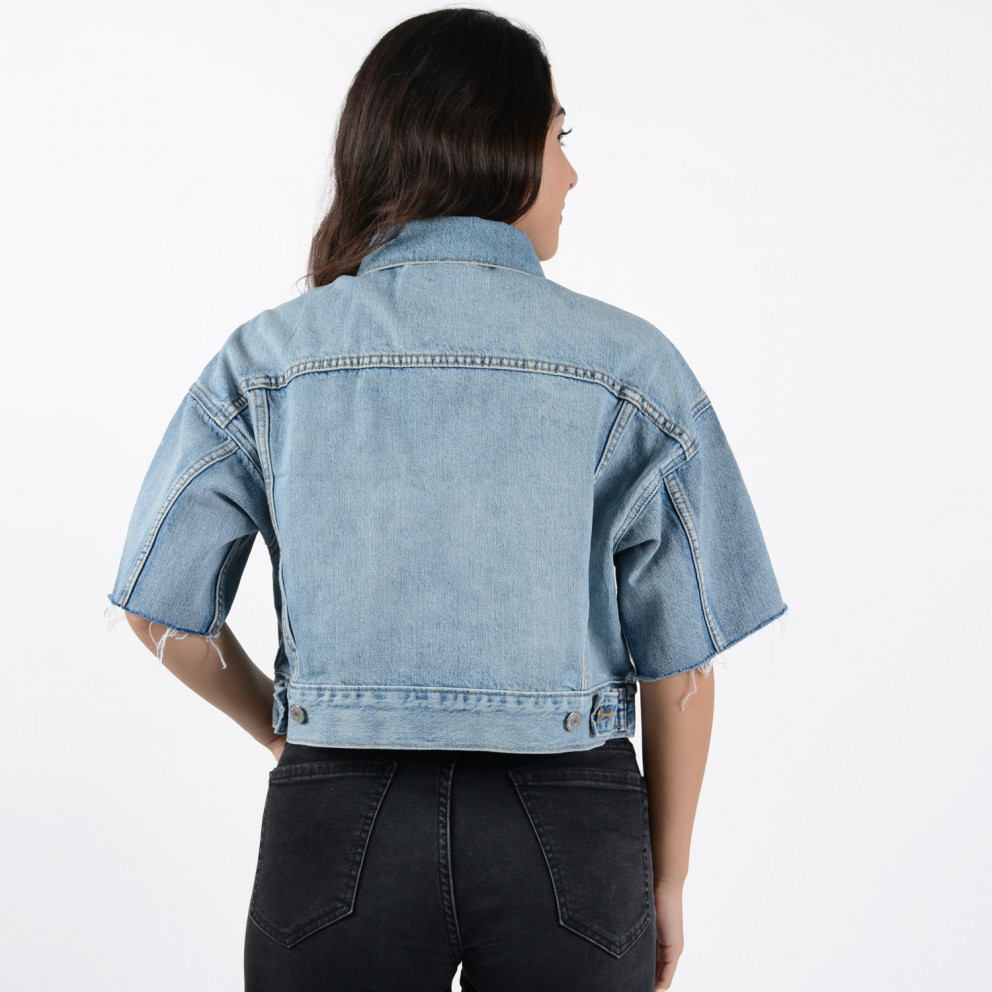 Levi's Women's Cropped Dad Sherpa Trucker Jacket