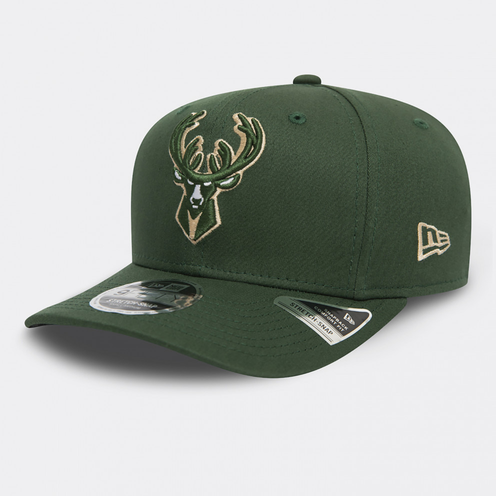 New Era NBA Milwaukee Bucks Snapback Stretch 950 Cap