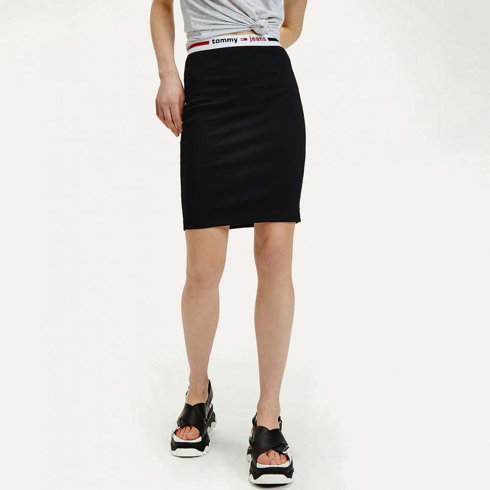 Tommy Jeans Logo Tape Fitted Bodycon Women'S Skirt