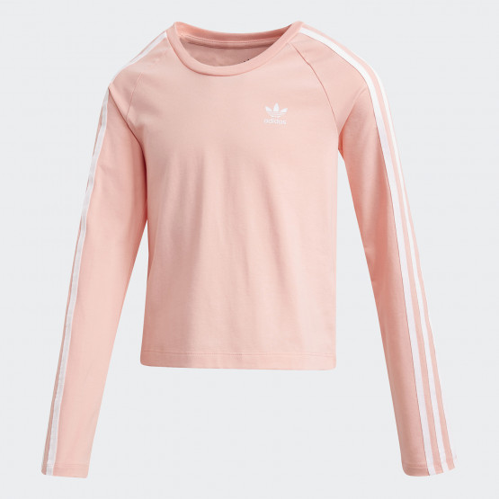 adidas Originals 3-Stripes Cropped Long-Sleeve Kids Top