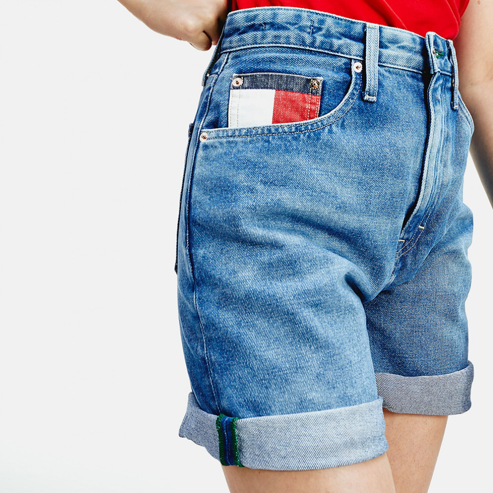 Tommy Jeans Mom Fit High Rise Denim Women'S Shorts