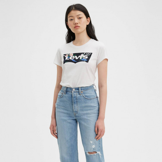Levis Women's The Perfect Tee Floral Filled Batwing
