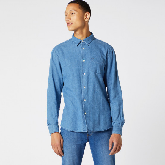 Wrangler Men'S Long SLeeve One Pocket Shirt