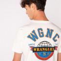 Wrangler Ss Globe Tee Off White