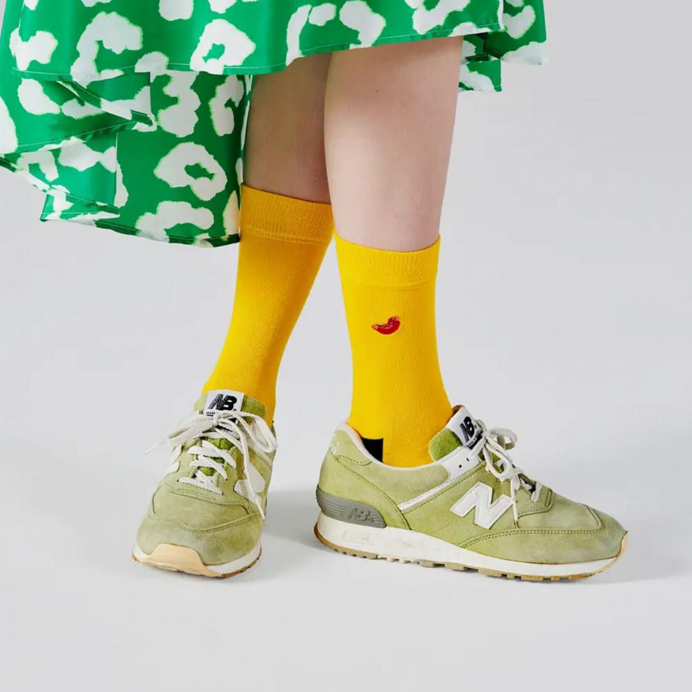 Happy Socks Embroidery Hot Dog Unisex Sock