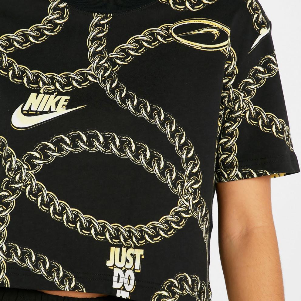 Nike W Nsw Tee Glam Dunk Crop