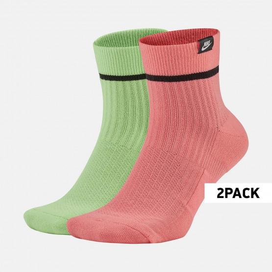 Nike Unisex 2 Pairs Sneakers Unisex Sox Ankle Socks