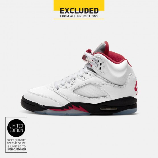 "Air Jordan Retro 5 ""Fire Red"" Youth Shoes"