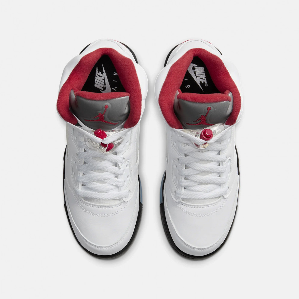 """Air Jordan Retro 5 """"fire Red"""" Youth Shoes"""