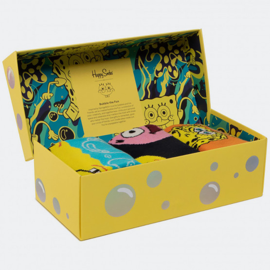 Happy Socks Sponge Bob 3-Pack Gift Box