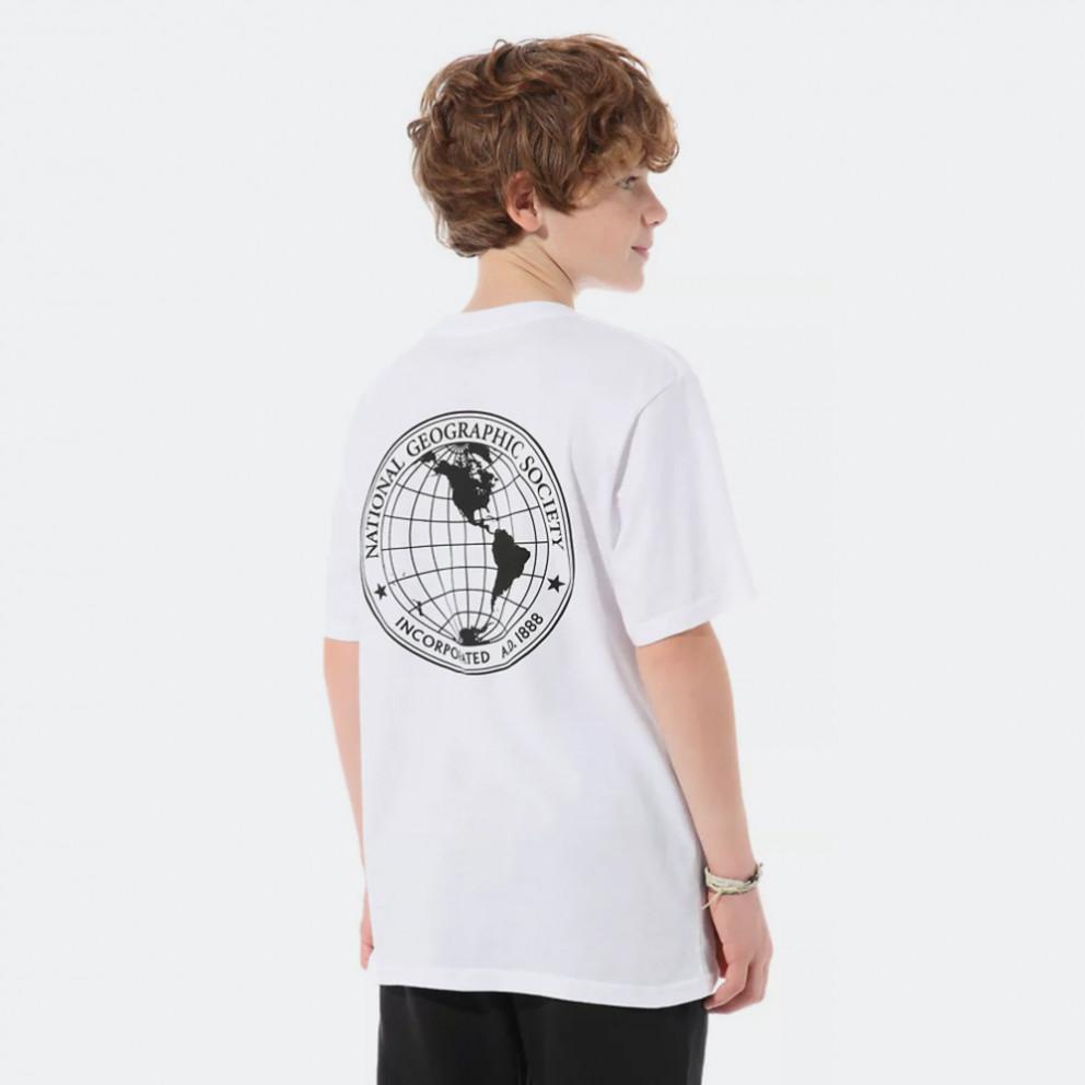 Vans x National Geographic Gl White Παιδική Μπλούζα