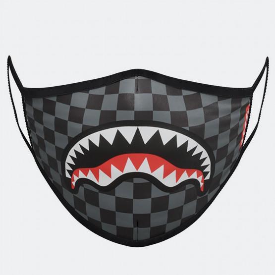 Sprayground Grey Checkered Shark Fashion Mask - Μάσκα Προσώπου