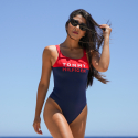 Tommy Jeans Color-Blocked One-Piece Women'S Swimsuit