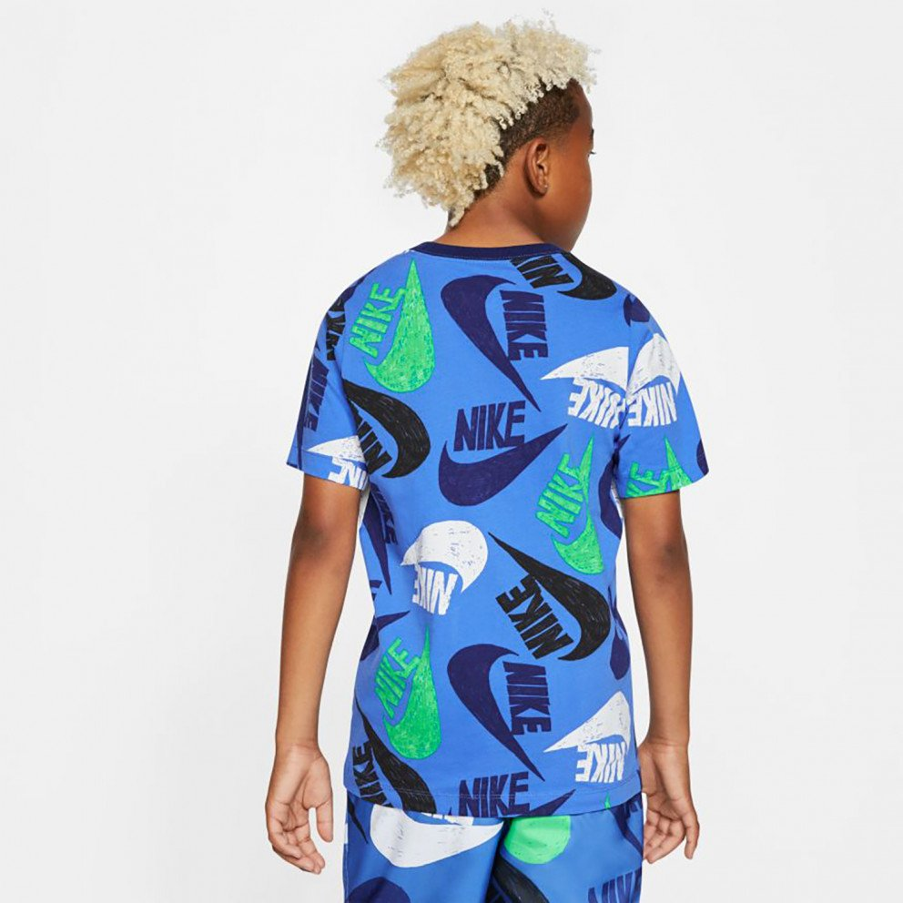 Nike Sportswear Tee Fw Marker Mash Παιδική Μπλούζα