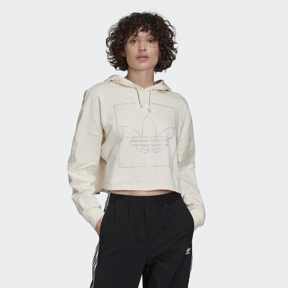 adidas Originals Crop Hoodie Γυναικεία Μπλούζα