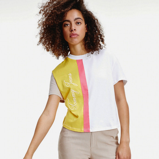 Tommy Jeans Colorblock Logo Women's Tee