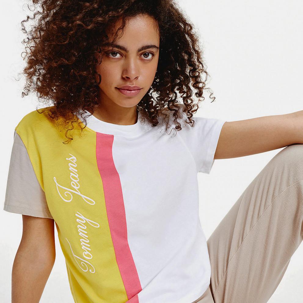 Tommy Jeans Colorblock Logo Γυναικεία Μπλούζα