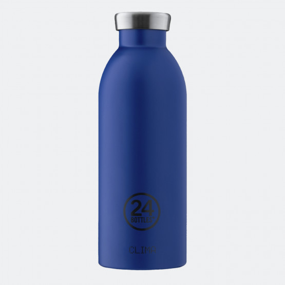 24Bottles Clima Gold Blue Steel Bottle 500 ml