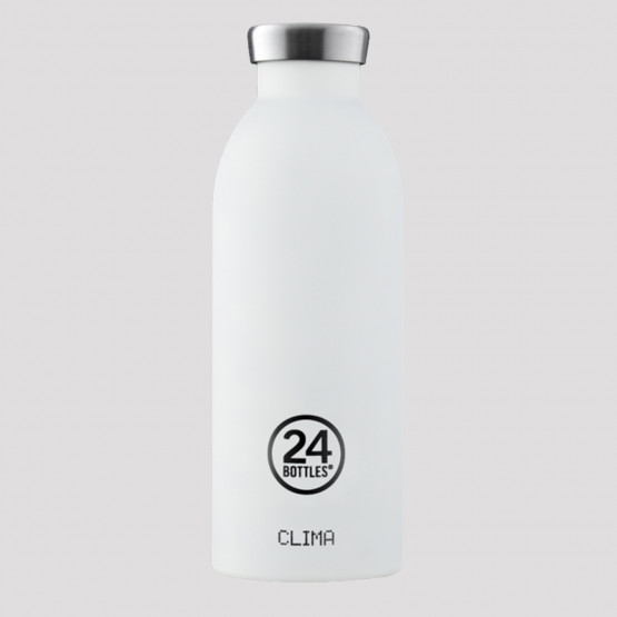 24Bottles Clima Ice White Steel Bottle 500 ml