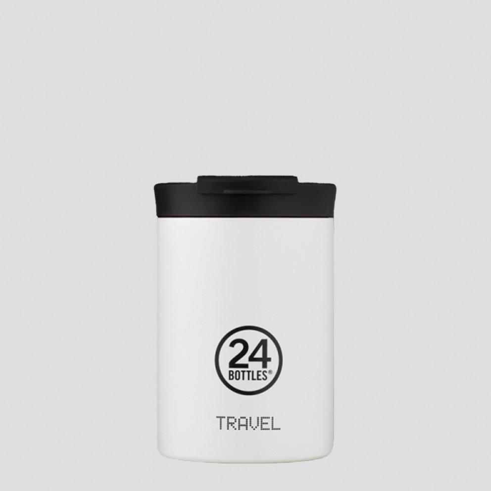 24Bottles Travel Tumbler Ice White Ανοξείδωτο Ποτήρι Θερμός 350 ml