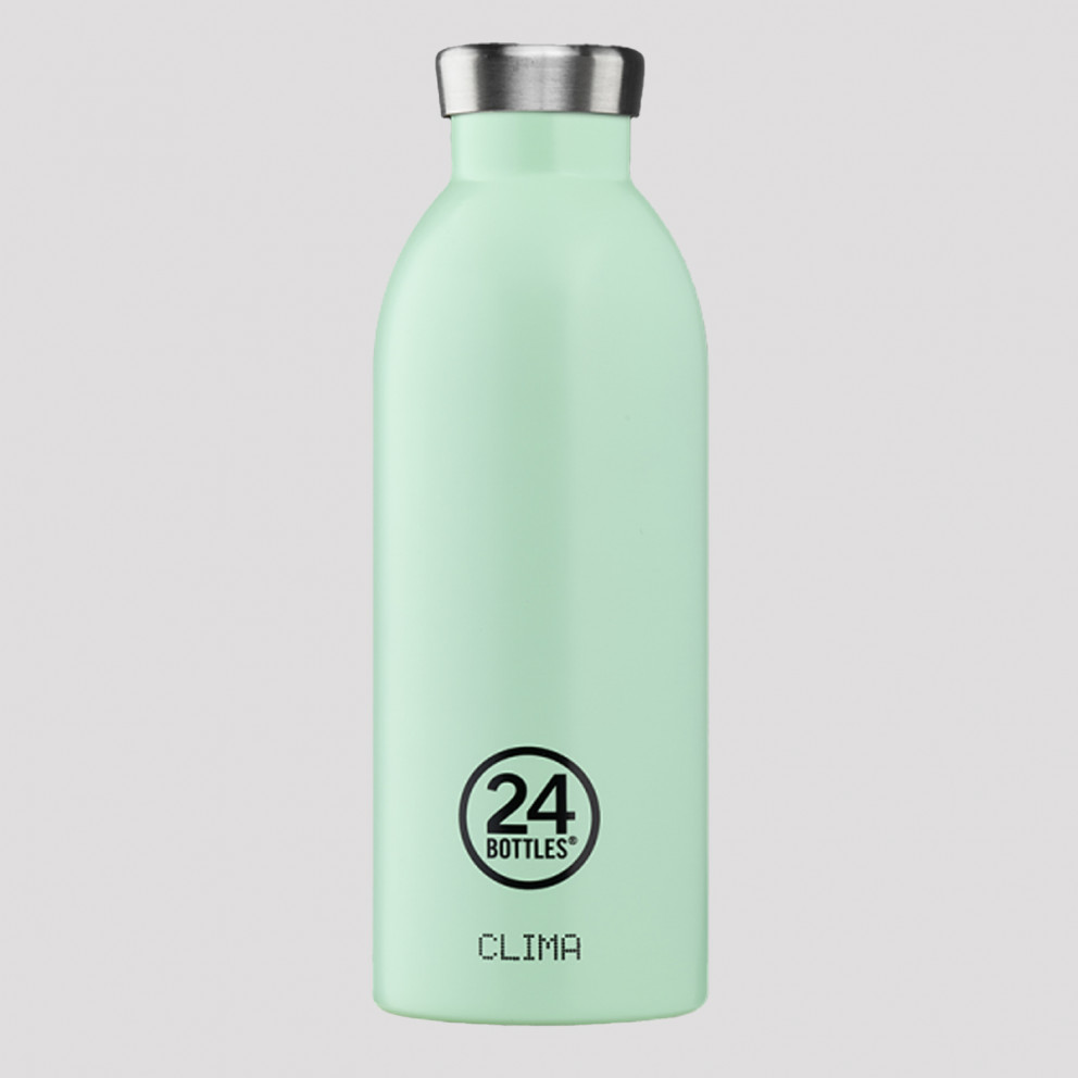 24Bottles Clima Aqua Green Ανοξείδωτο Μπουκάλι 500 ml