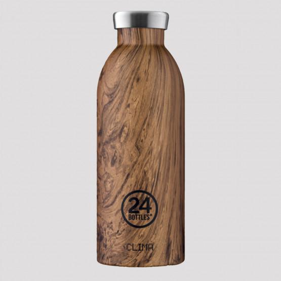 24Bottles Clima Wood Sequoia Ανοξείδωτο Μπουκάλι 500 ml