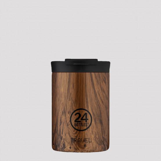 24Bottles Travel Tumbler Sequoia Wood Ανοξείδωτο Ποτήρι Θερμός 350 ml