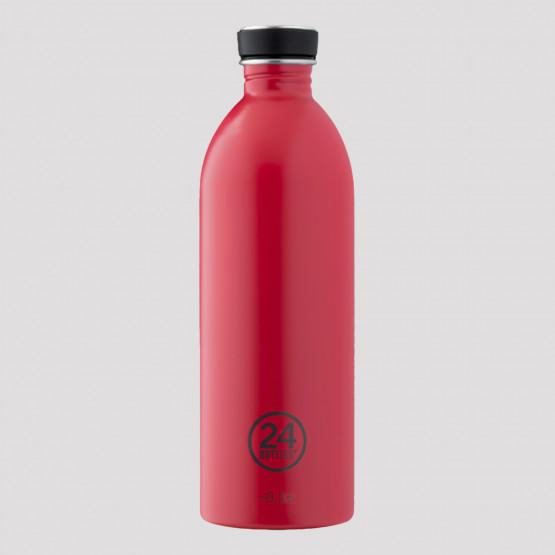 24Bottles Urban Hot Red Steel Bottle 1L